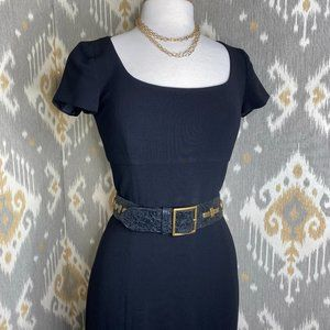 Ralph Lauren Wool Capped Sleeve Sheath Dress